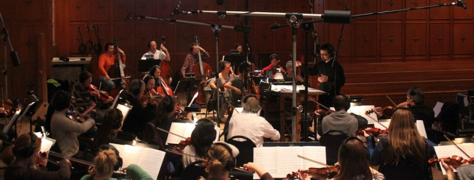 Recording at Bastyr with the Northwest Sinfonia